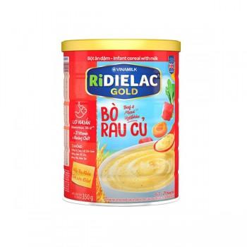 Bột Ăn Dặm Ridielac Gold Bò Rau Củ, lon 350g