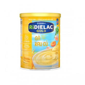 Bột Ăn Dặm Ridielac Gold Gà Rau Củ, lon 350g