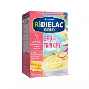 Bột Ăn Dặm Ridielac Gold Gạo Trái Cây, 200g