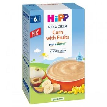 Bột ăn dặm Hipp bắp, hoa quả, sữa Corn with Fruits