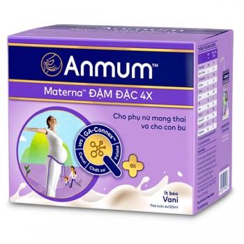 Lốc sữa Anmum Materna đậm đặc 4X hương Vani