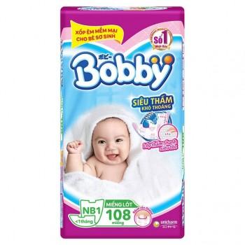 Miếng lót Bobby Newborn 1, 108 miếng, <1 tháng