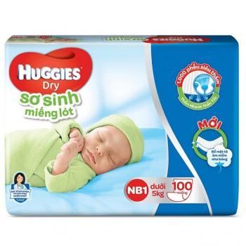 Miếng lót sơ sinh Huggies Newborn 1, 100 miếng