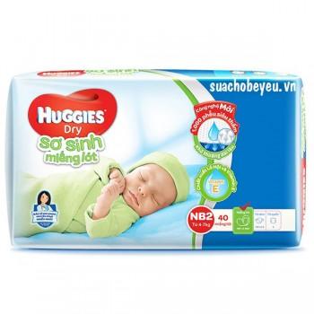 Miếng lót sơ sinh Huggies Newborn 2, 40 miếng