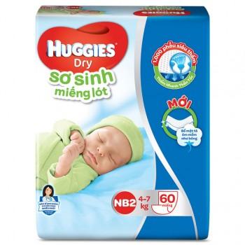Miếng lót sơ sinh Huggies Newborn 2, 60 miếng