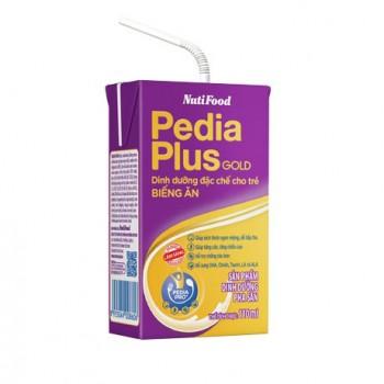 Thùng sữa bột pha sẵn Nuti Pedia Plus Gold hộp 110ml