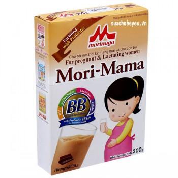 Sữa bầu Mori Mama hương Socola hộp giấy 200g