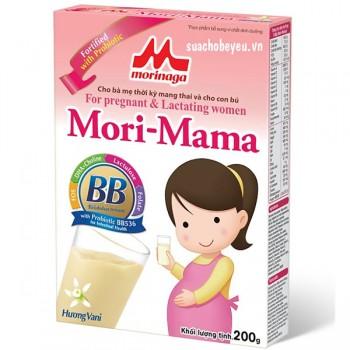 Sữa bầu Mori Mama hương Vani hộp giấy 200g