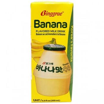 Thùng sữa Binggrae Hàn Quốc hương chuối, 200ml