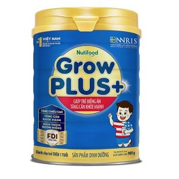 Sữa NutiFood Grow Plus + Xanh, 900g,  >1 tuổi