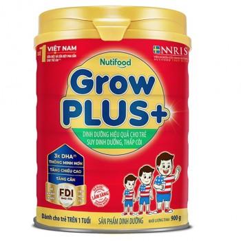 Sữa bột NutiFood Grow Plus + Đỏ, 900gr, >1 tuổi