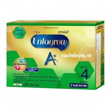 Sữa Enfagrow 4 A+ Brain Plus, hộp giấy 3.25kg