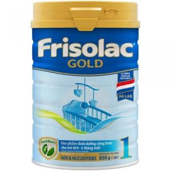 Sữa Frisolac Gold 1, lon 850g, FrieslandCampina Hà Lan