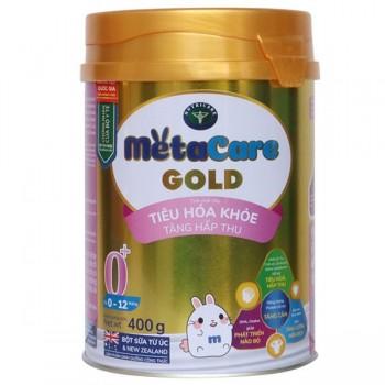 Sữa Metacare Gold 0+ hộp 400g, cho trẻ 0-12 tháng tuổi