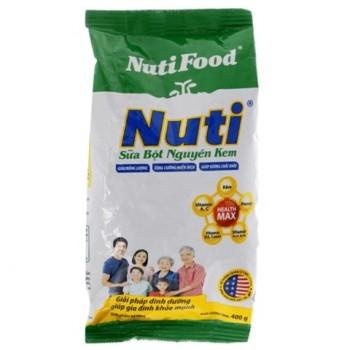 Sữa bột dinh dưỡng Nuti nguyên kem bịch 400g