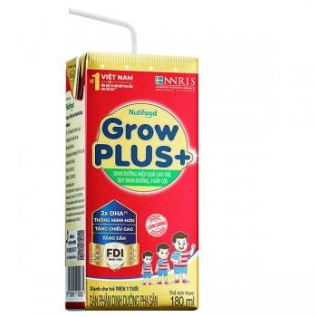 Sữa bột pha sẵn Nuti Grow Plus + Đỏ, thùng 180ml