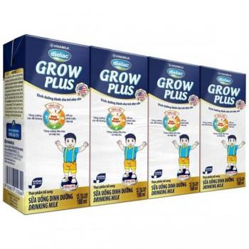 Sữa Dielac Grow Plus 2+ Màu Xanh, 180ml, >1 tuổi