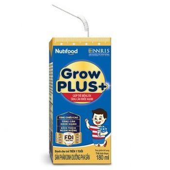 Sữa bột pha sẵn Nuti Grow Plus Xanh, 180ml, >1 tuổi