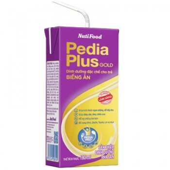 Sữa bột pha sẵn Nuti Pedia Plus Gold hộp 180ml
