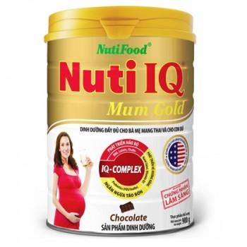 Sữa bầu Nuti IQ Mum Gold hương Socola, lon 900g