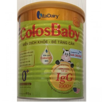 Sữa non Colosbaby Gold 0+ lon 400g cho trẻ 0-12 tháng tuổi