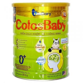 Sữa Colosbaby IQ Gold 0+ cho trẻ 0-1 tuổi,  lon 800g