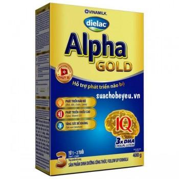 Dielac Alpha Gold Step 3, hộp giấy 400g, 1-2 tuổi