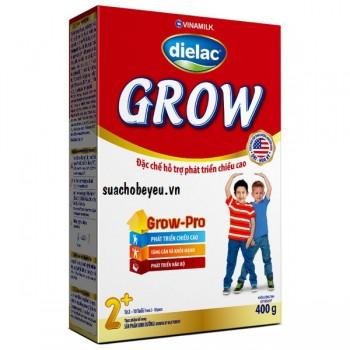 Sữa bột Dielac Grow 2+ hộp giấy 400g, > 2 tuổi