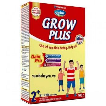 Sữa bột Dielac Grow Plus 2, Hộp giấy 400g, 2+ tuổi