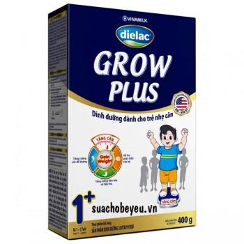 Sữa Dielac Grow Plus 1+ Màu Xanh, hộp giấy, 1-2 tuổi