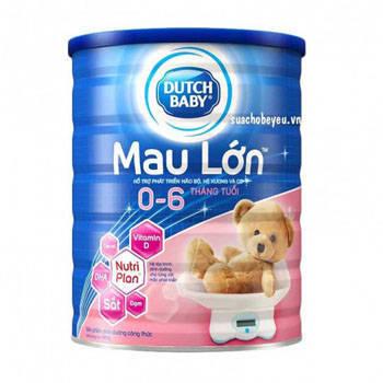 Sữa bột Cô gái Hà Lan Mau Lớn, 900g, 0-6 tháng