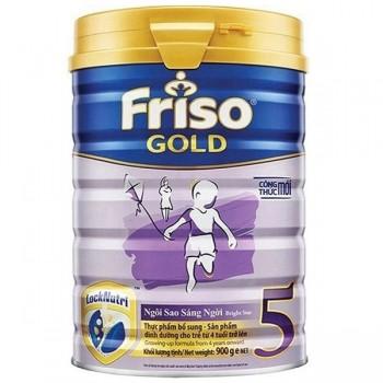Sữa bột Friso Gold số 5 cho trẻ từ 4 tuổi, lon 900g