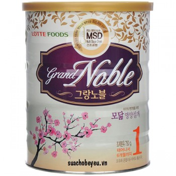 Sữa Grand Noble 1, Lotte Foods, 750g, 0-6 tháng