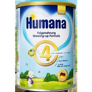 Sữa Humana Gold số 4, hộp 800g, cho trẻ 2-12 tuổi.