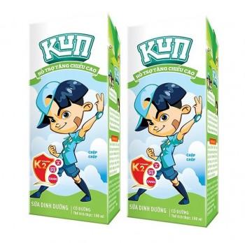 Thùng Sữa Dinh Dưỡng Kun Có Đường, hộp 180ml