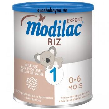 Sữa Modilac Riz 1, dị ứng đạm sữa bò, trẻ 0-6 tháng