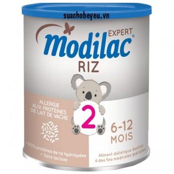 Sữa Modilac Riz 2, dị ứng đạm sữa bò, 6-12 tháng