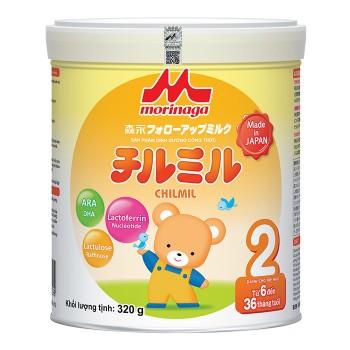 Sữa Morinaga 2, Nhật Bản, 320g, 6 - 36 tháng tuổi