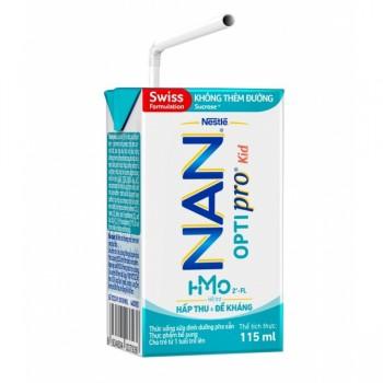 Thùng sữa bột pha sẵn Nan Optipro 36 hộp 115ml