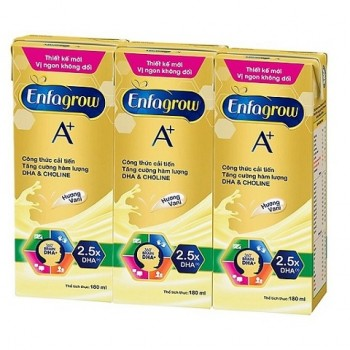 Sữa nước Enfagrow  vani trẻ từ 2 tuổi, hộp 180ml