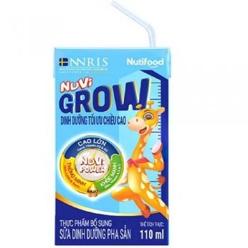 Sữa bột pha sẵn Nuvi Grow, thùng 110ml, >1 tuổi