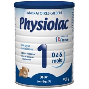 Sữa Physiolac Relais 1, 0-6 tháng, 900g, Gilbert Pháp