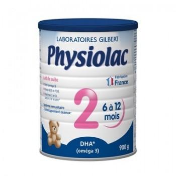 Sữa Physiolac 2, 6-12 tháng, Gilbert Pháp, 900g