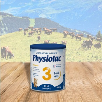 Sữa Physiolac số 3, 1-3 tuổi, Gilbert Pháp, 400g