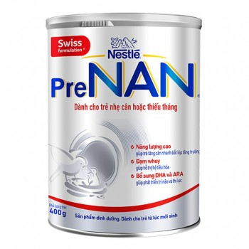 Sữa PreNan cho trẻ sinh non, nhẹ cân, thiếu tháng, lon 400g