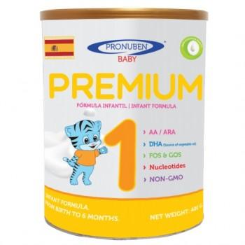 Sữa Pronuben Premium Hổ Xanh 1, 400g, 0-6 tháng