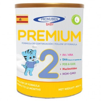 Sữa Pronuben Premium Hổ Xanh 2, 6-12 tháng, 400g