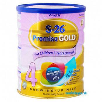Sữa bột S-26 Promise Gold 4, Wyeth, >3 tuổi, 900g