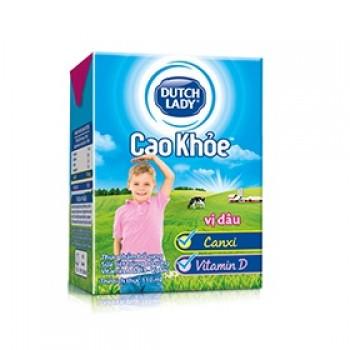 Sữa Cô Gái Hà Lan Cao Khoẻ hương dâu hộp 110ml