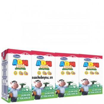 Sữa Tiệt Trùng Vinamilk ADM dâu, hộp 110ml